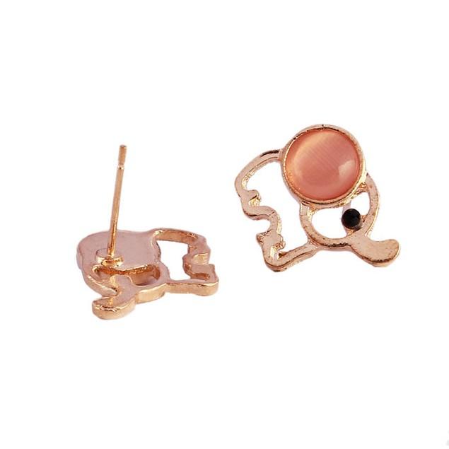 Women's Elephant Rhinestone Stud Earrings
