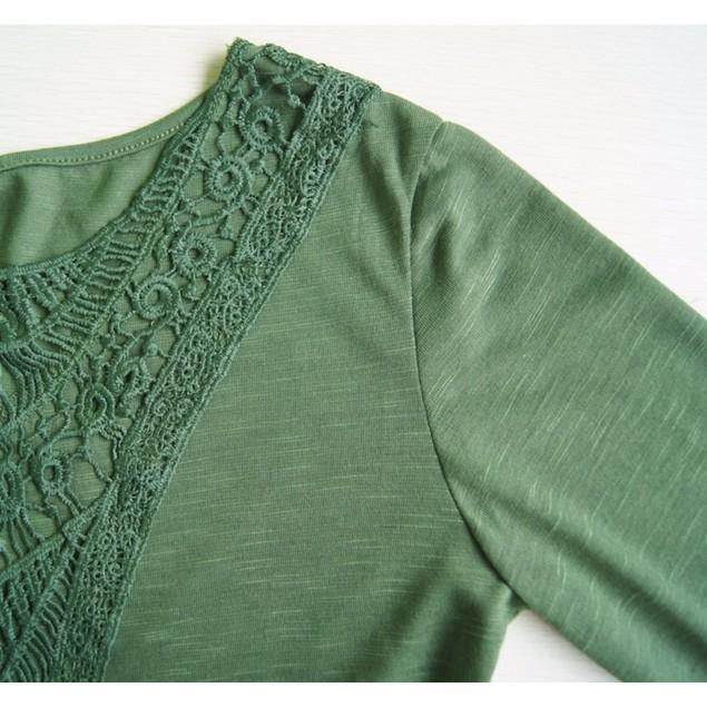 Crochet Scoop Neck Boho Chic Top - Assorted Colors