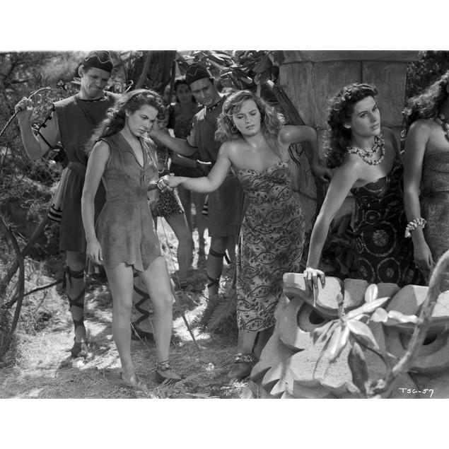 Denise Darcel Scene in Black and White Poster
