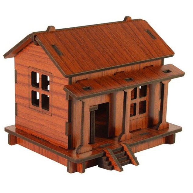 DIY House 3D Puzzle Toys Wooden Adult Children Intelligence