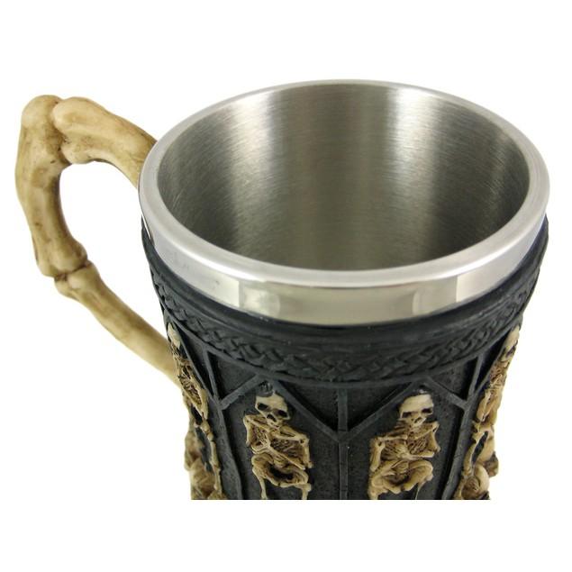 Ossuary Style Skeleton Tankard Coffee Mug Cup Beer Mugs