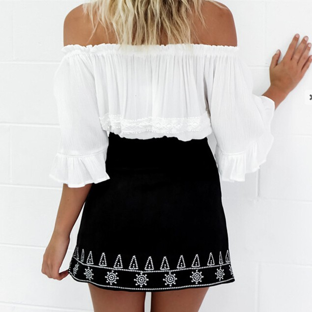 Women Suede Fabric Skirt Slim Seamless Stretch Tight Short  Skirt