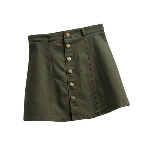 Women's Fashion Waist Skirt Korean Style Denim Skirt