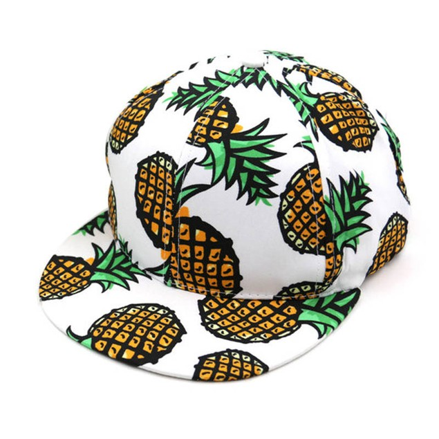Pineapple Snapback Bboy Hat Adjustable Baseball Cap Hip-hop Hat