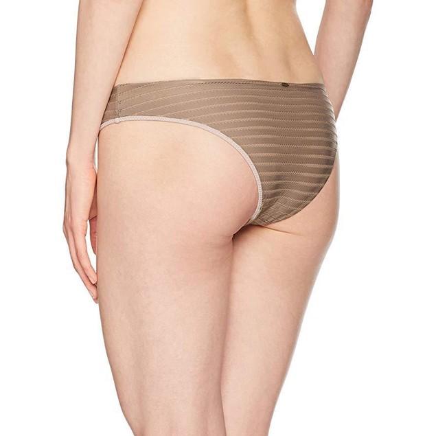 O'Neill Women's Adley Mesh Stripe Lace up Cheeky Bikini Bottom Sz: M