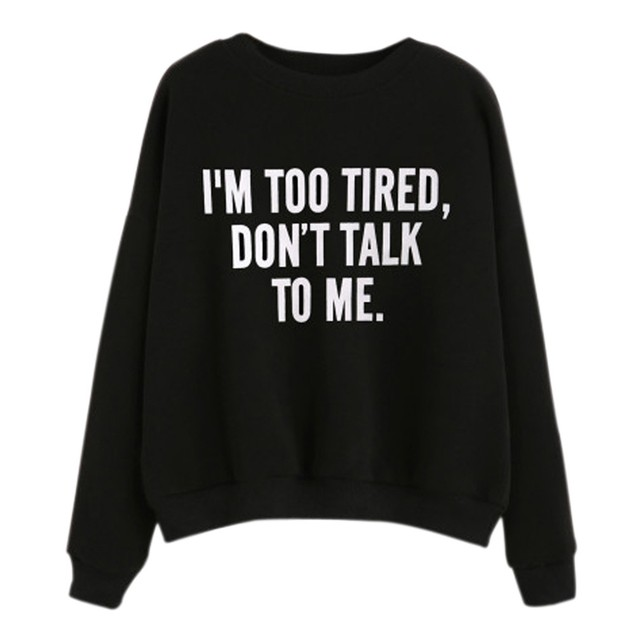 Women Round Neck Print Letter Long Sleeve Casual Sweatshirt Pullover  ?