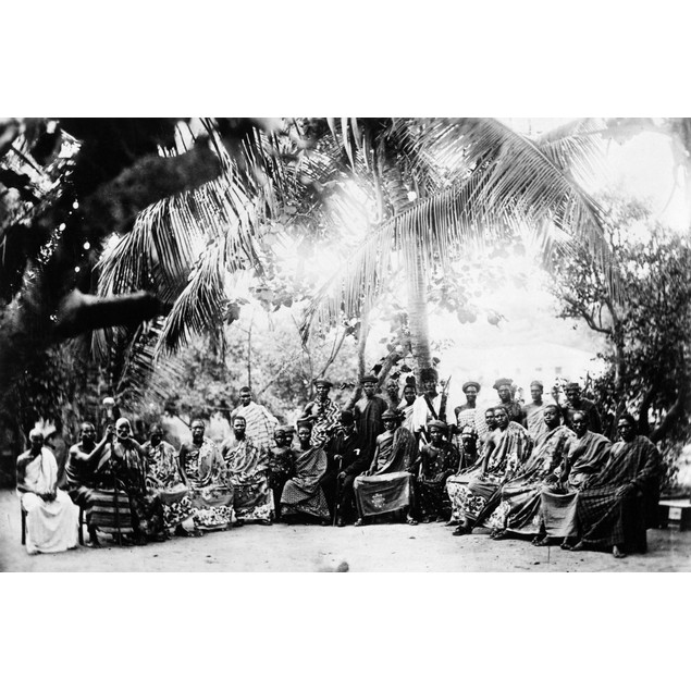 Africa: Chief, C1900. /Na Chief And His Court, Most Likely King Kobina Of E