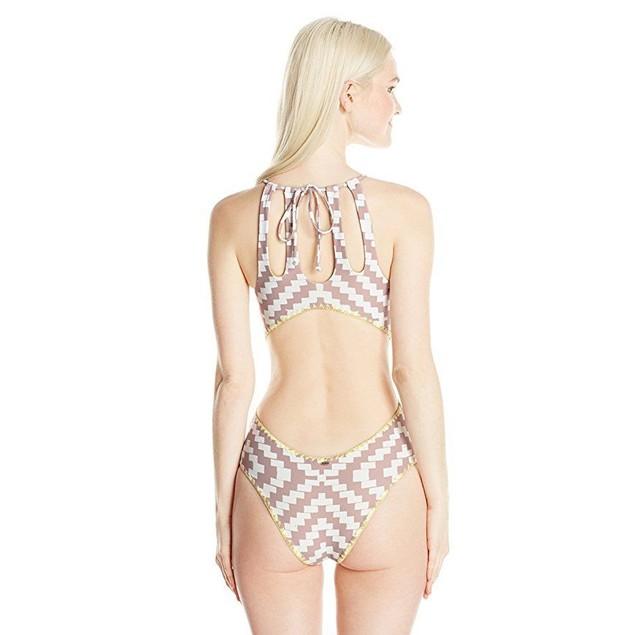 O'Neill Women's Surf Bazaar One Piece Swimsuit, Natural/Natural, XL