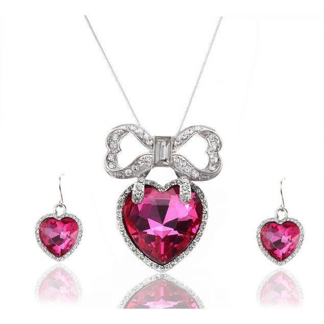 Princess Lustrous Pink Necklace Set