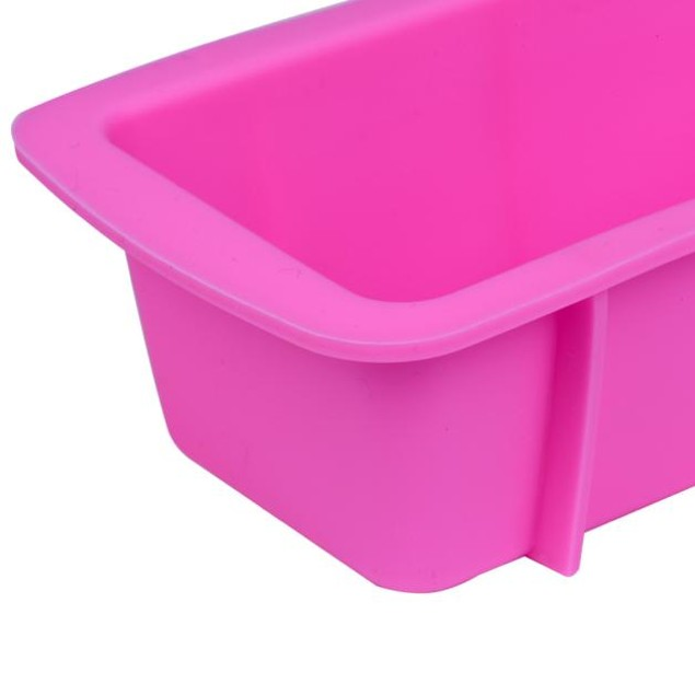 Pink Silicone Non-Stick Loaf Baking Pan