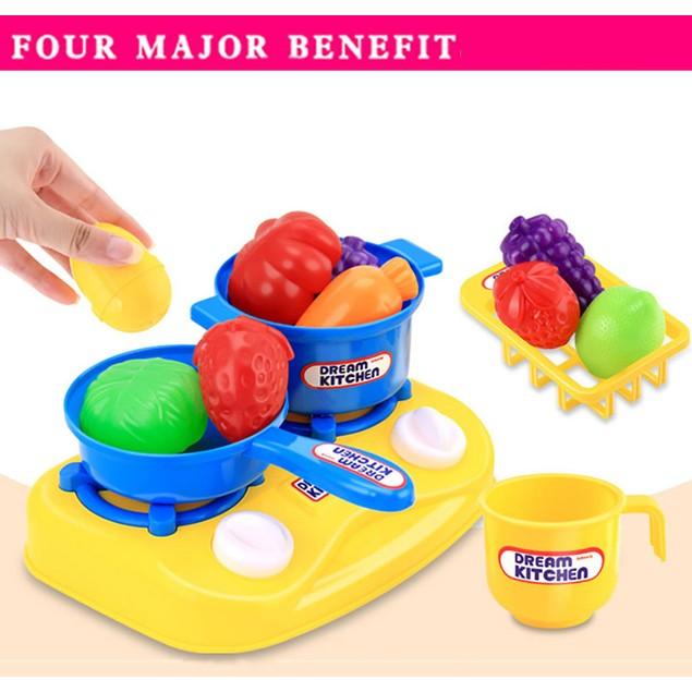26pcs Plastic Kids Kitchen Utensils Food Cooking Toy