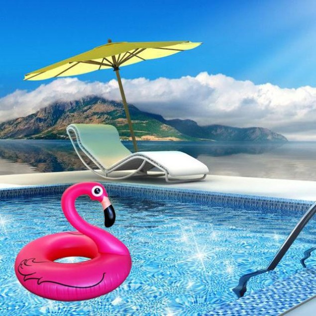 Giant Ride Flamingo Inflatable Pool Float