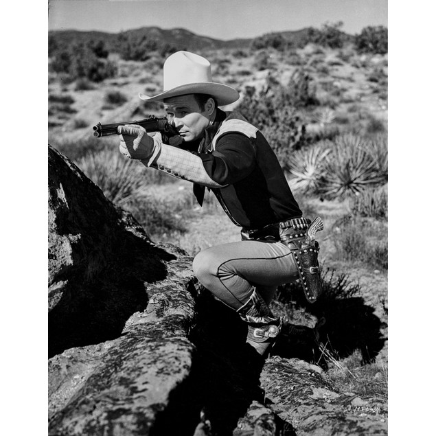 Roy Rogers Pointing A Gun with Cowboy Outfit Poster