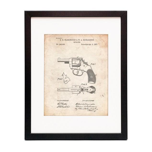 Revolver Pistol Patent Poster