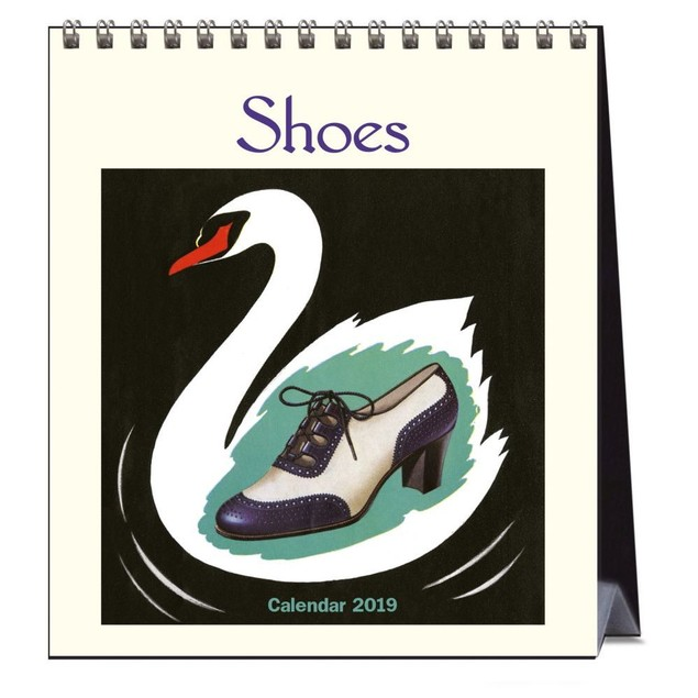 Shoes Easel Desk Calendar, Fashion by Calendars