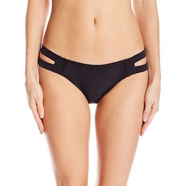 6 Shore Road by Pooja Women's Santiago Bikini Bottom, Black Rock, SZ L
