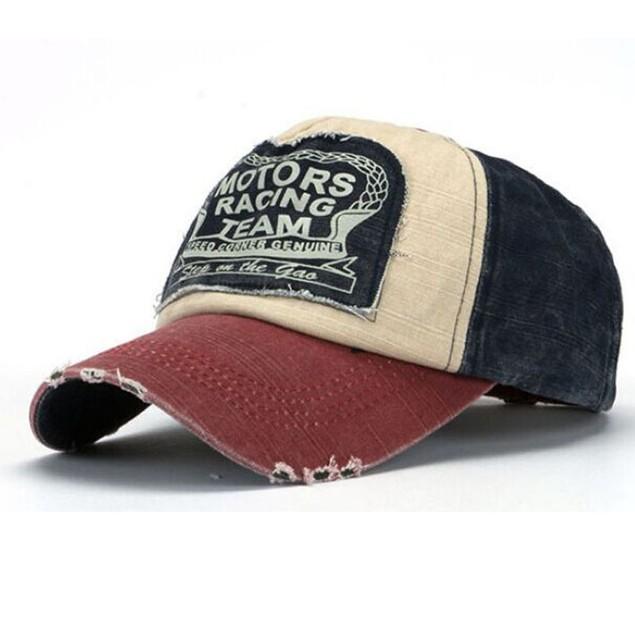 Baseball Cap Cotton Motorcycle Cap Edge Grinding Do Old Hat