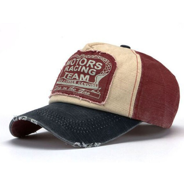 Baseball Cap Cotton Motorcycle Cap Edge Grinding Do Old Hat