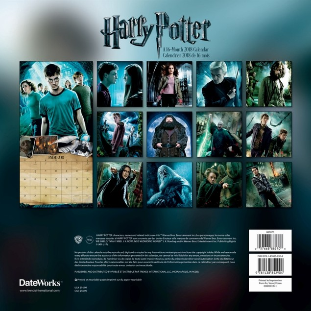 2019 Harry Potter Collector's Edition Calendar