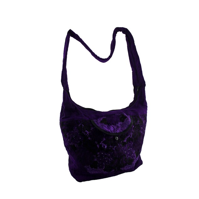 Bright Purple Hand Embroidered Crossbody Bag With Womens Cross Body Bags