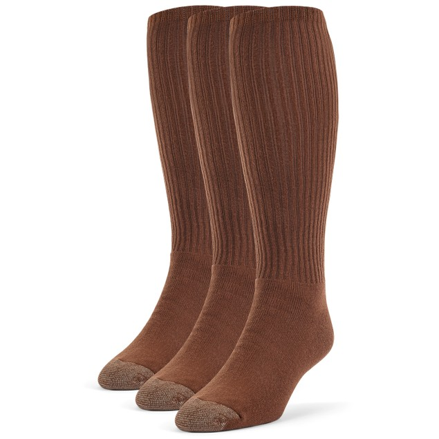 Galiva Men's Cotton Extra Soft Over the Calf Cushion Socks - 3 Pairs