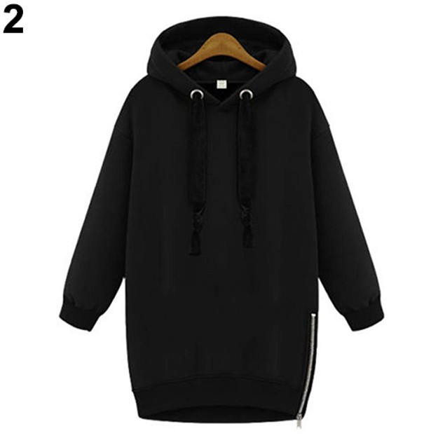 Women Fashion Long Sleeve Loose Outwear Hoodie Sweatshirt