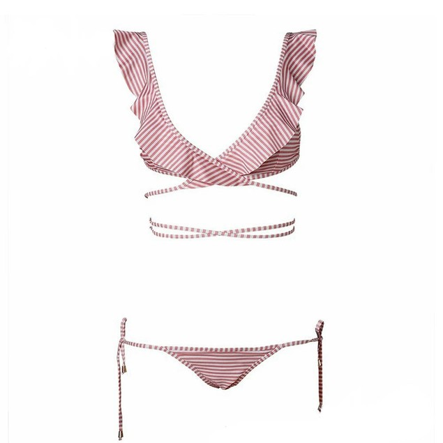 Lady Bandage Bikini Set Push-up Padded Brazilian Bathing Swimsuit Swimwear