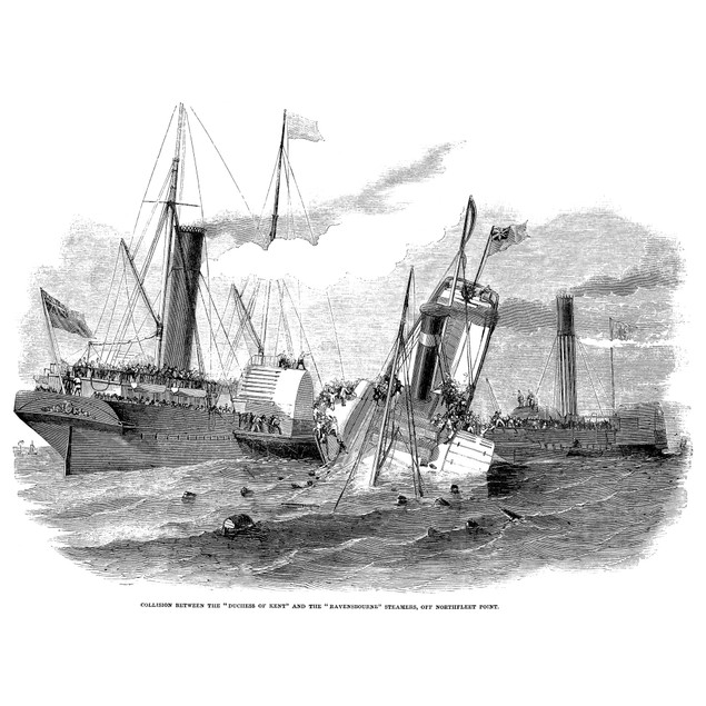 Shipwreck: Collision 1852. /Ncollision Between The 'Duchess Of Kent' And Th