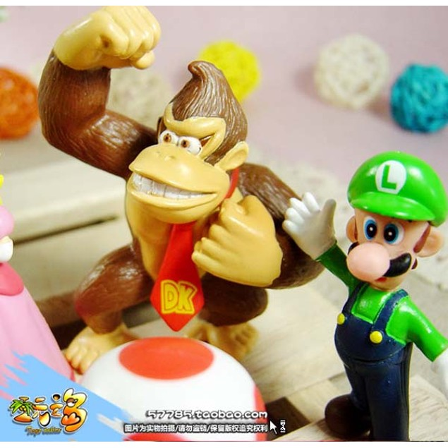 6pcs Brand Mini Super Mario Bros 1.5~2.5' Action Figures Doll Toy