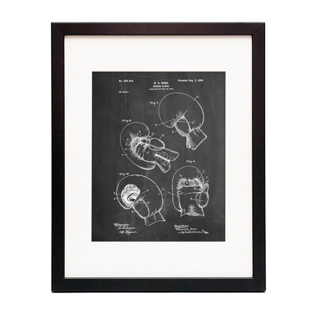 Vintage Boxing Glove 1898 Patent Poster