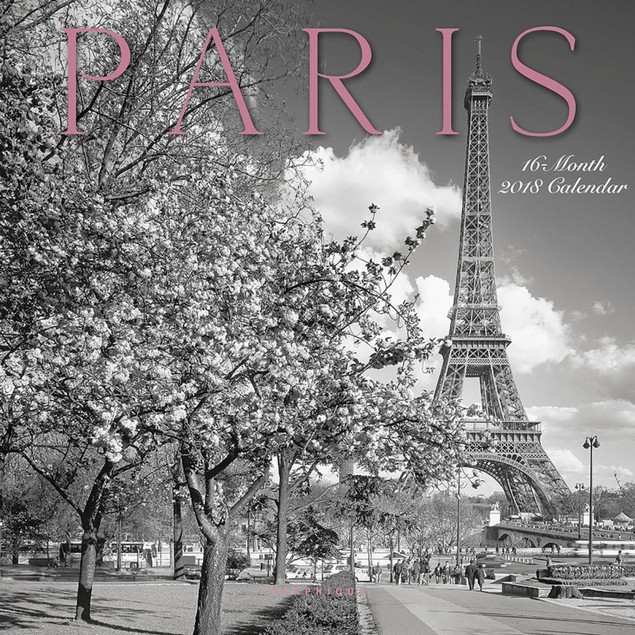 Paris B&W Mini Wall Calendar, France by Calendars