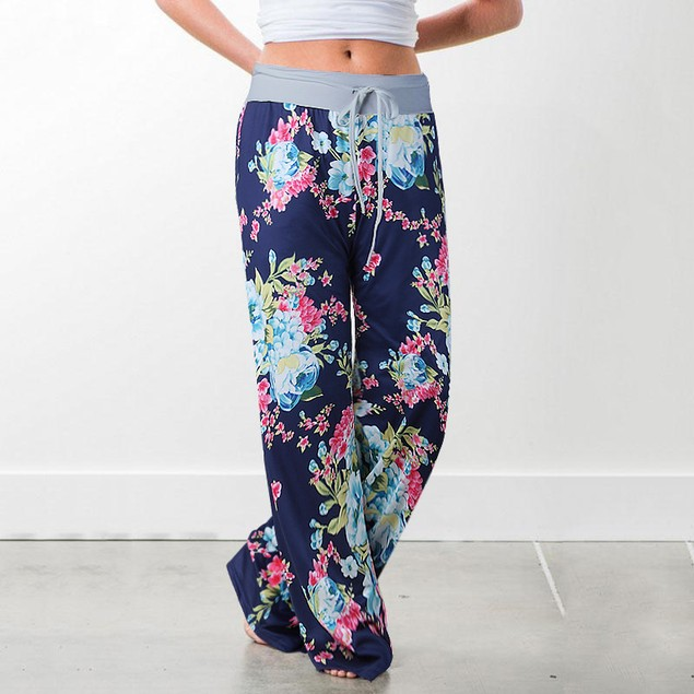 Flower Pants with Grey Waist