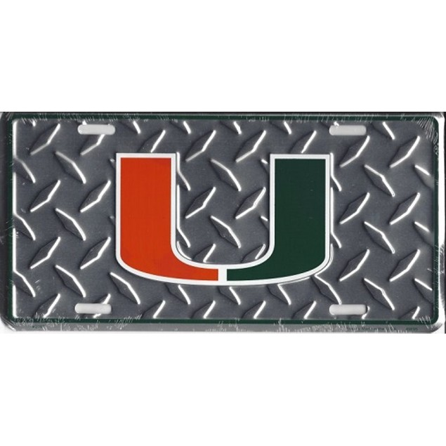 "Miami Hurricanes NCAA ""Diamond"" License Plate"
