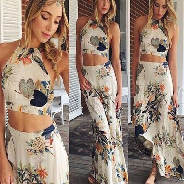 Women Summer Long Maxi Evening Party Dress Beach Dress