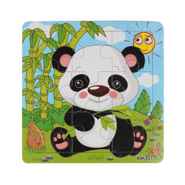 Kids Wooden Panda Jigsaw Puzzle Toy