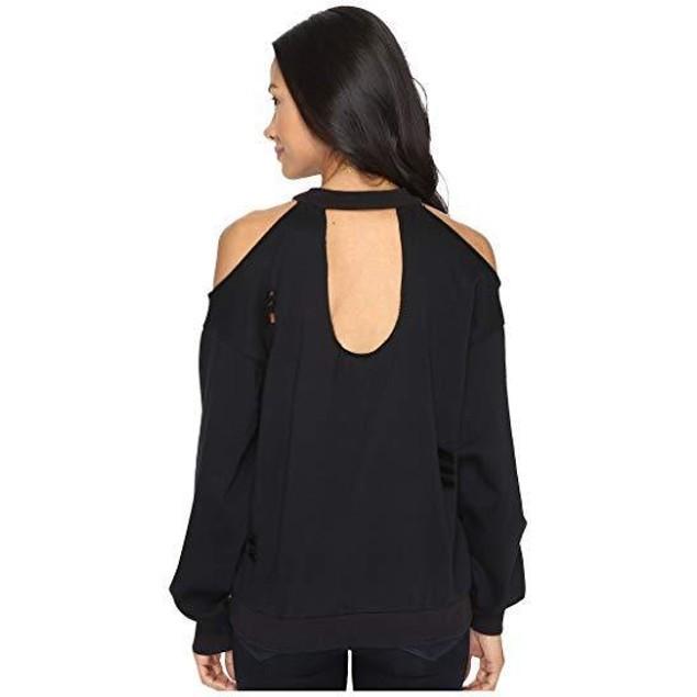 Brigitte Bailey Women's Merchant Cold Shoulder Black Shirt