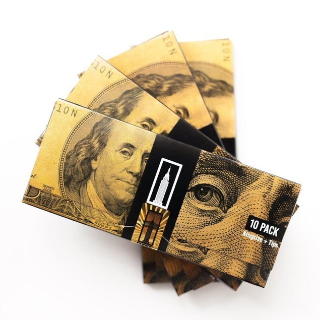 Empire 100 Dollar Bill Rolling Paper 6 Wallets (60 Papers)