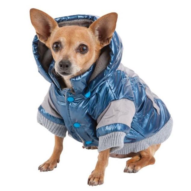 Sporty Vintage Aspen Ski-Active Dog Jacket w/ Removable Hood