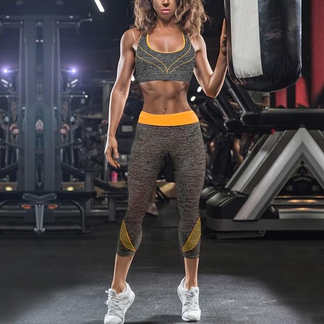 Sports Bra & Capri Leggings 2 Piece Set - pack options avail