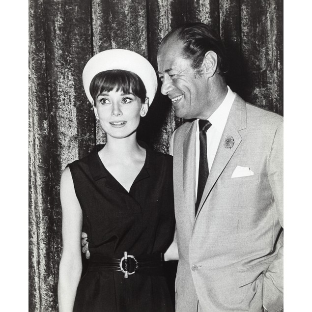 Audrey Hepburn and Rex Harrison at the rehearsals for the Alan Jay Lerner-F