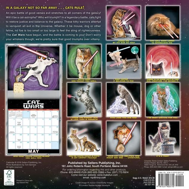 Cat Wars Wall Calendar, Funny Cats by Calendars