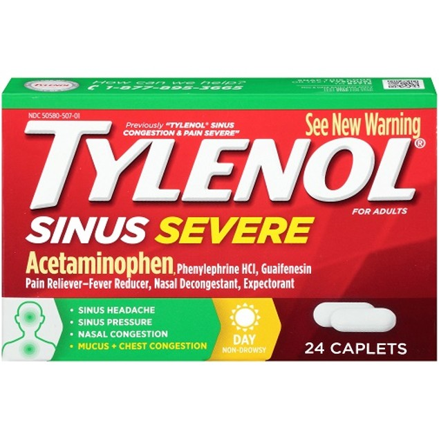 Tylenol Sinus Congestion and Pain Severe Caplets