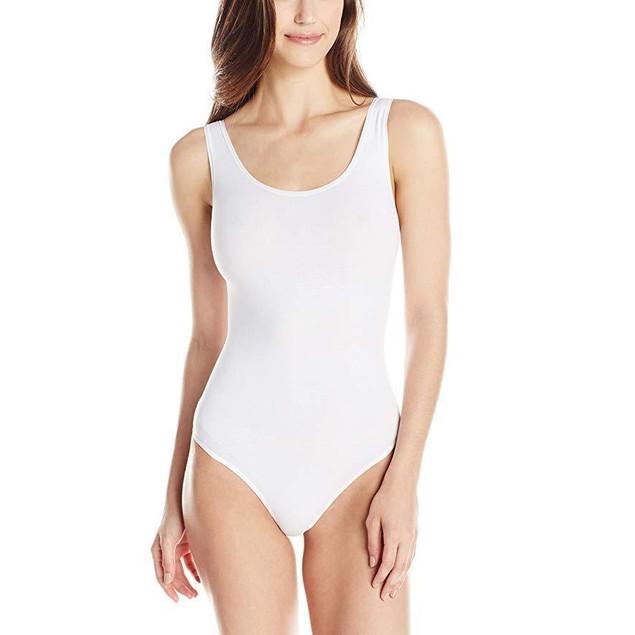 Yummie Women's Ruby Cotton Seamless Shaping Thong Bodysuit SZ L/XL