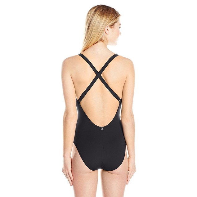 NWT WMNS LOLE Madeirella Onepiece Swimsuit, Black, SIZE LARGE