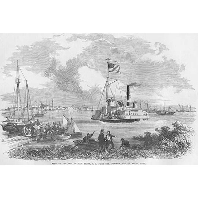 Federal ship on the occupied river Meuse & Trent Rivers Poster
