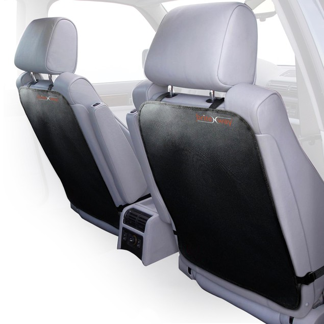 Auto Kick Mats Full Back Seat Protection From Stains, Mud & Dirt- Pack Of 2