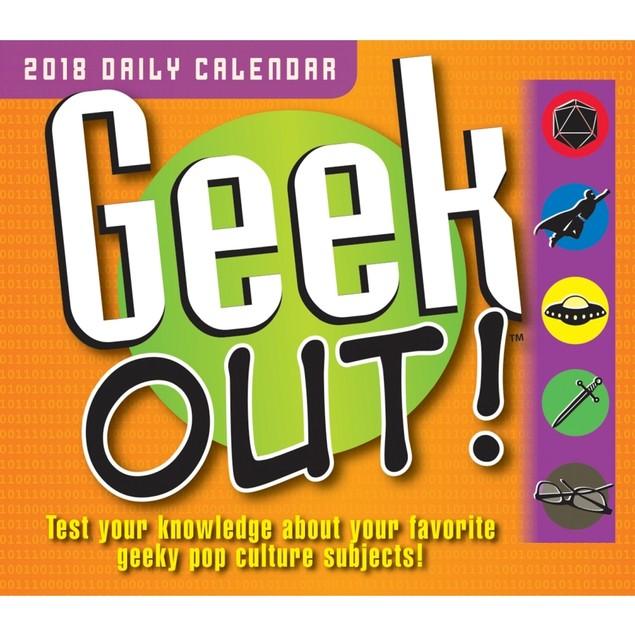 Geek Out Desk Calendar, Mindbenders & Trivia by Calendars