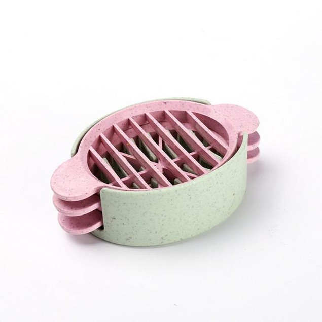 Wheat Straw Egg Slicer - Assorted Colors - Watch the Video