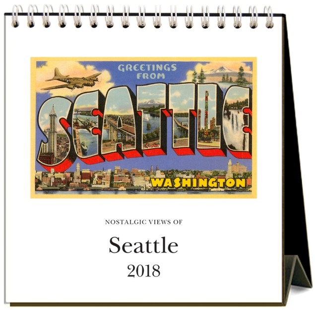 Seattle Nostalgic Easel Calendar, Seattle by Found Image Press