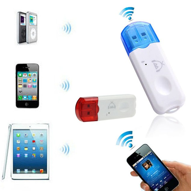 USB Wireless Bluetooth Music Receiver Adapter for iPhone 4 5 Mp4